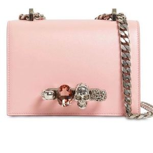 Alexander McQueen Small Pink Jewelled Satchel Bag